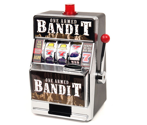 Bandit Slot Machine  Novelty Bank