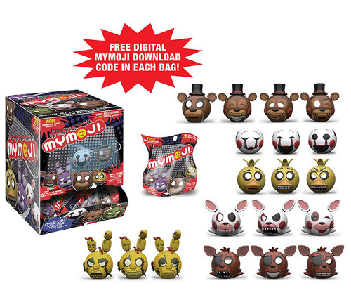 Mymoji: Five Nights at Freddys Set Toys (24pc Set) Character Display Figure