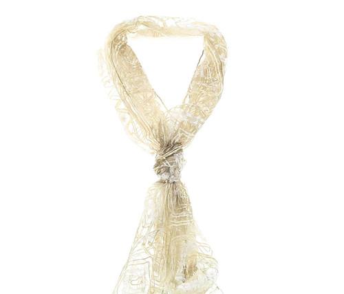 Olive Green Geometric Handmade Silk Scarve Woman's Accessories