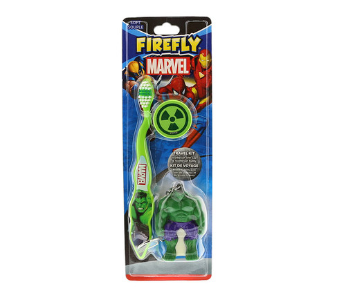 Marvel Heroes The Incredible Hulk Toothbrush 3pc Travel Set Children's Accessories