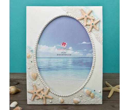 Fashioncraft Glorious Hand Painted Beach 8 x 10 Inch Frame  Decor Accent