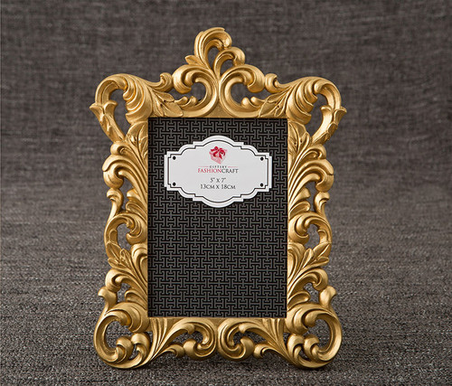 Fashioncraft Gold Metallic 5 x 7 inch Baroque Photo Frame  Decor Accent