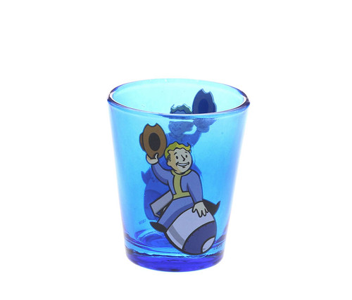Fallout Boy Bomb Riding shot glass Novelty Character Drinkware