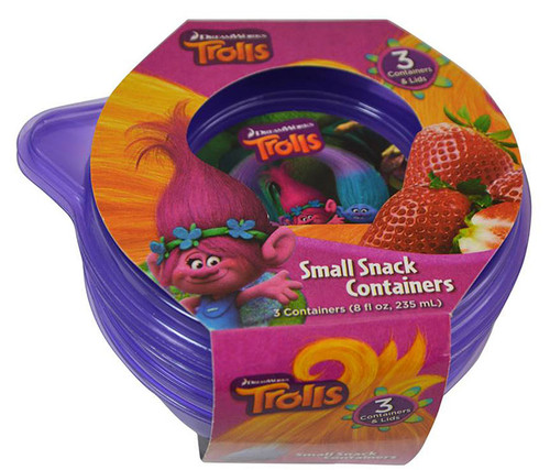 Trolls Snack Containers 3pc Set Food Containers