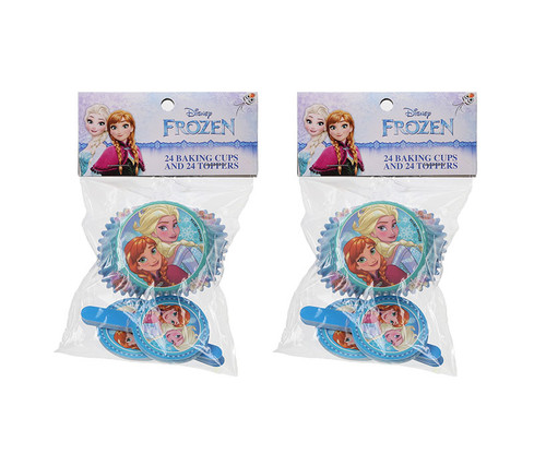 Disney Frozen Baking Cups and Toppers 48 Pairs Cupcake Liners
