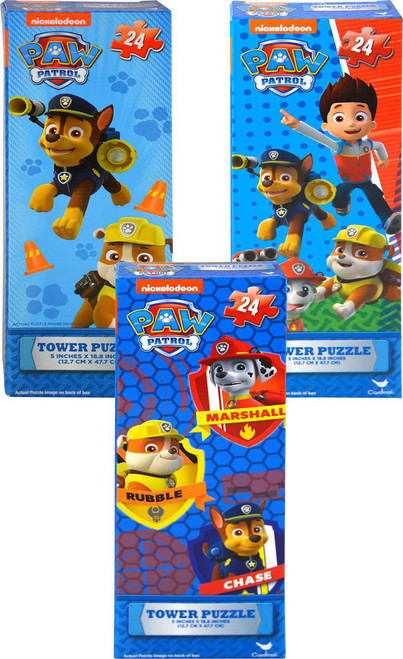 Paw Patrol 24pc Tower Puzzles 3 Items Tower Puzzles