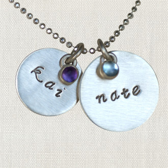 Contemporary Cursive Necklace