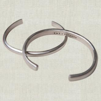 Men's Half Round Cuff Bracelet