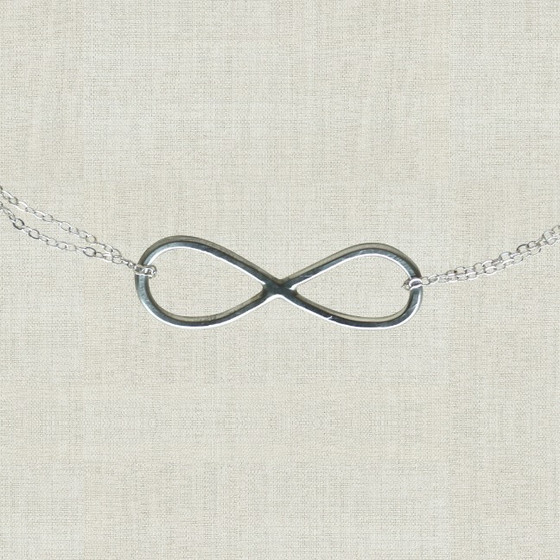 Infinity Necklace In Sterling Silver Handmade Infinity Sign On A