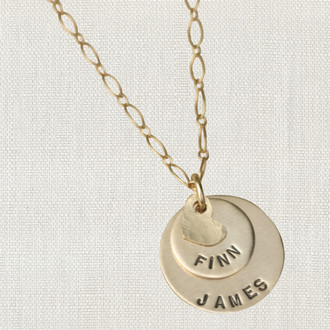 Gold Layers of Love Necklace