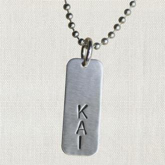 Men's Tag Necklace