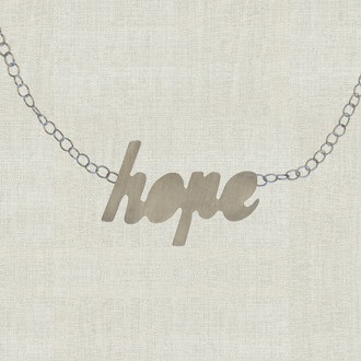 MaxLove Hope Script Floating Necklace