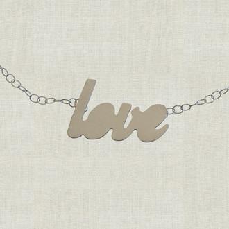 MaxLove Love Script Floating Necklace