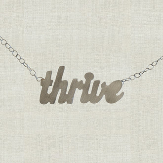 MaxLove Thrive Script Floating Necklace