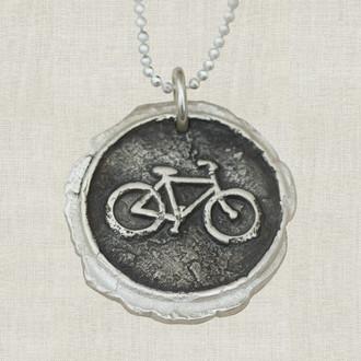Bike Pendant Necklace