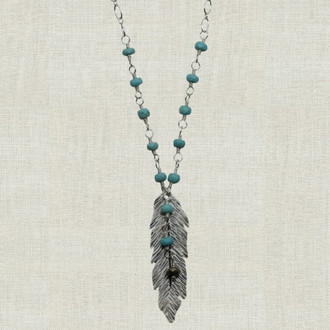 Deluxe Feather Pendant Necklace