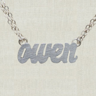 Hand Cut Name Necklace