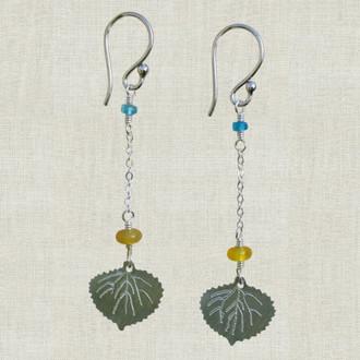 Aspen Leaf Dangle Earrings