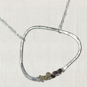 Abstract Life Circle Necklace