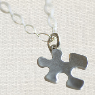 Autism Awareness Puzzle Piece Necklace