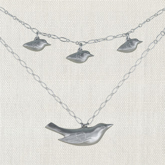 Mama Bird Family Necklace