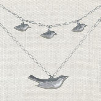 Mama Bird Family Necklace