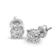 14k White Gold .50ct Round Diamond Studs