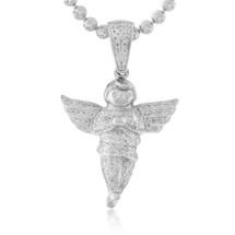 10k White Gold  .50ct Diamond Angel