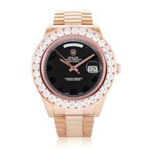 Rolex Day-Date II 18k Rose Gold 6.6ct Diamond Watch