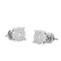 14k White Gold .50ct Diamond Luna Earring