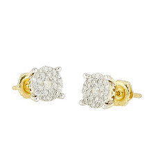 14k Yellow Gold .50ct Diamond Luna Earrings