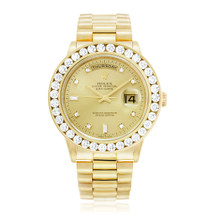 Rolex Day-Date 18k Yellow Gold 3.5ct Diamond Watch
