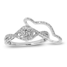14k White Gold .65ct Diamond Bridal Set