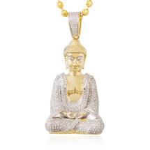10k yellow gold 85ct diamond buddha pendant shyne jewelers 10k yellow gold 200ct diamond buddha pendant aloadofball Images