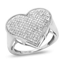 10k White Gold .50ct Diamond Heart Ring