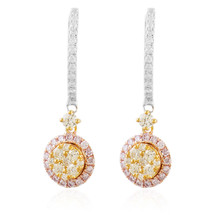 14k White Gold 1.00ct Diamond Drop Earrings