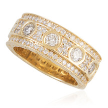 14k Yellow Gold 3.25ct Mens Diamond Ring