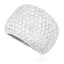 14k White Gold 5.06ct Pave Diamond Ring
