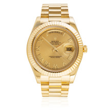 Rolex Day-Date II 18K Yellow Gold President Gold Dial Automatic Men's Watch