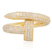 14k Yellow Gold 1 5ct Nail Ring Shyne Jewelers