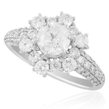 18K White Gold 1.17ct Diamond Engagement Ring