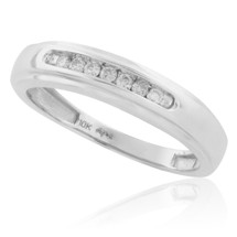 10k White Gold .15ct Diamond Wedding Band