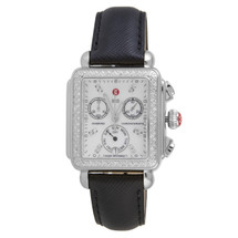 Michele Signature Diamond Deco Watch