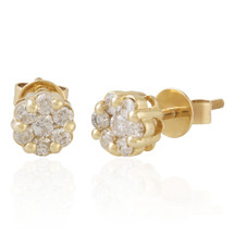 10k Yellow Gold .45ct Diamond Studs