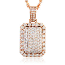 14k rose gold 55ct diamond dog tag pendant shyne jewelers 14k rose gold 365ct diamond dog tag pendant aloadofball Choice Image