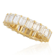 14K Yellow Gold 7ct Baguette Diamond Band