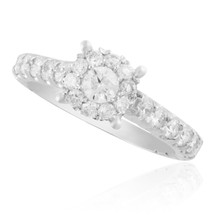 14K White Gold 1.58ct Diamond Engagement Ring