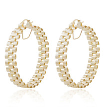 14k Yellow Gold Small Jubilee Band Hoops