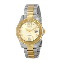 Invicta Women's Pro Diver Quartz 3 Hand Champagne Dial Watch 17021