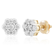 10k Yellow Gold .82ct Diamond Studs